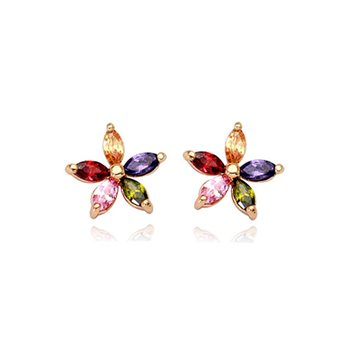Vibrant Summer Flower Earrings