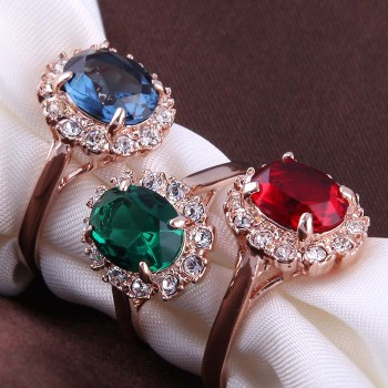Ultimate Elegance Ring - Deep Green, Deep Blue, Deep Red