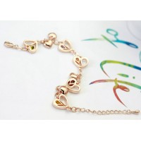 Hearts and Stars Crystal Charm Bracelet
