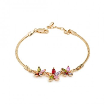 Vibrant Summer Flower Bracelet