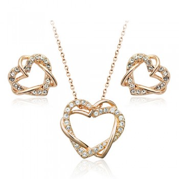 Heart to Heart Earring and Necklace Set