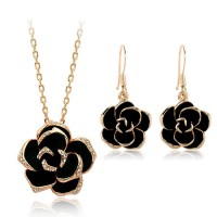 Kiss From a Rose Pendant and Earring Set