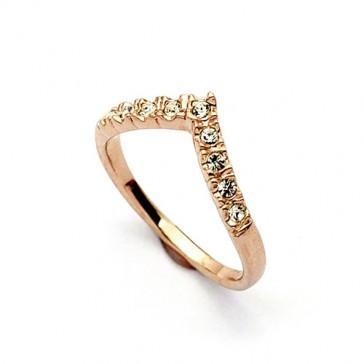 Galactic Sparkle Wishbone Ring